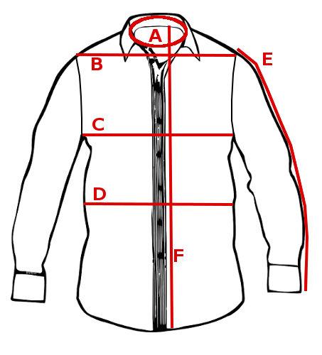 Maßnehmen am Hemd