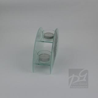 teelichthalter aus glas mit spruch 14 00 eur. Black Bedroom Furniture Sets. Home Design Ideas